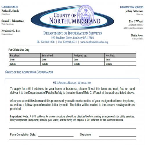 Address Request Form